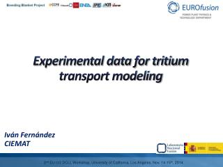 Experimental data for tritium transport modeling