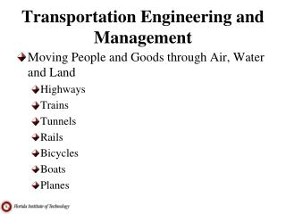 Transportation Engineering and Management