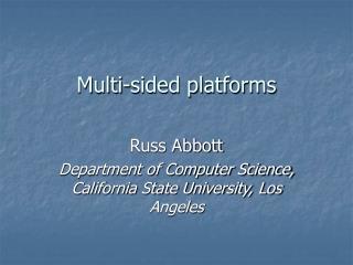 Multi-sided platforms