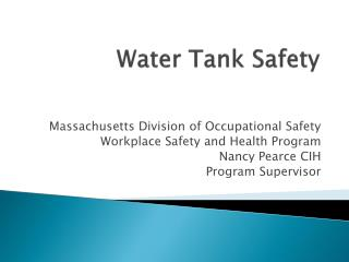 Water Tank Safety