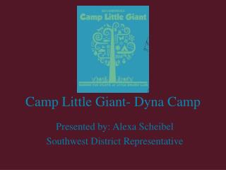 Camp Little Giant- Dyna Camp