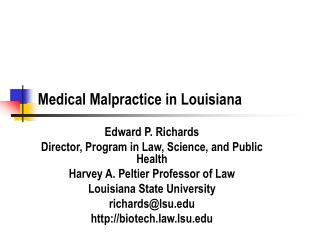 Medical Malpractice in Louisiana