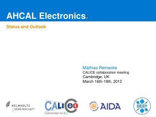 AHCAL Electronics .