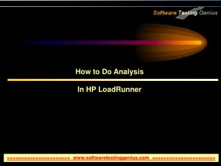 How to Do Analysis In HP LoadRunner