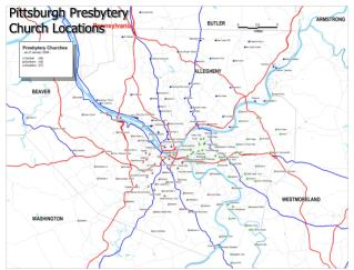 Pittsburgh Presbytery  Church Locations