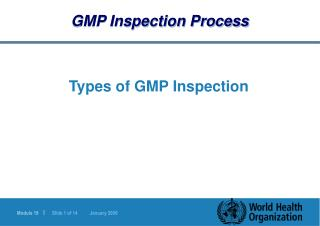 GMP Inspection Process
