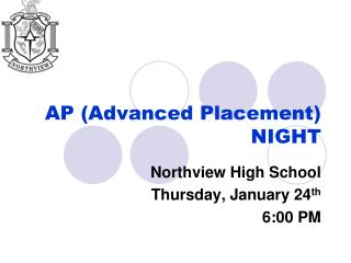 AP (Advanced Placement) NIGHT