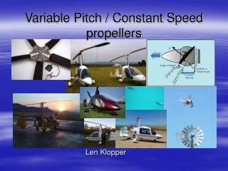 Variable Pitch / Constant Speed propellers