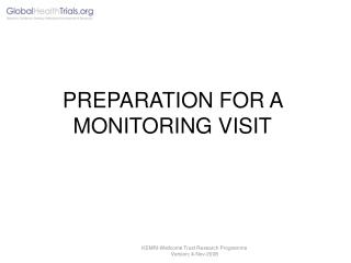 PREPARATION FOR A MONITORING VISIT