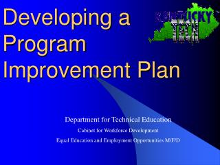 Developing a Program Improvement Plan