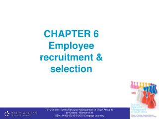 CHAPTER 6  Employee recruitment & selection
