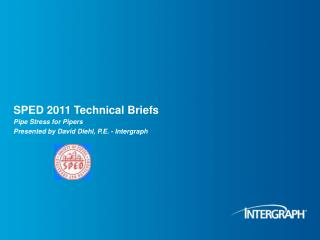 SPED 2011 Technical Briefs
