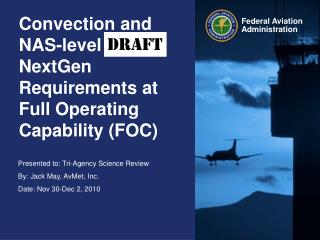 Convection and NAS-level  NextGen Requirements at Full Operating Capability (FOC)