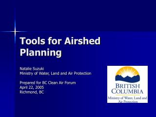 Tools for Airshed Planning