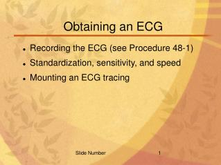 Obtaining an ECG