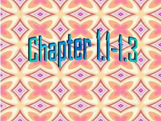 Chapter 1.1-1.3