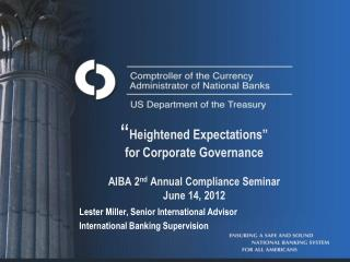 Lester Miller, Senior International Advisor International Banking Supervision
