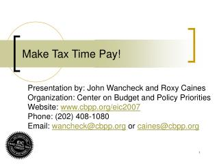Make Tax Time Pay!