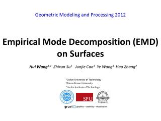 Empirical Mode Decomposition (EMD) on Surfaces