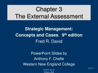 Chapter 3 The External Assessment
