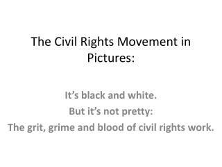 The Civil Rights Movement in Pictures: