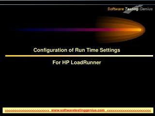 Configuration of Run Time Settings For HP LoadRunner