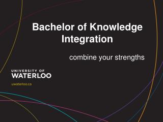 Bachelor of Knowledge Integration