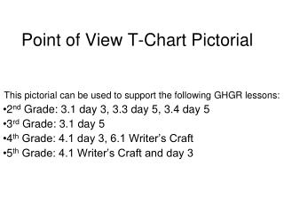 Point of View T-Chart Pictorial