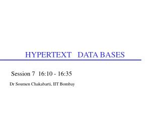 HYPERTEXT   DATA BASES