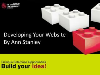 Developing Your Website By Ann Stanley