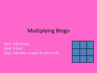 Multiplying Bingo