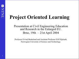 Project Oriented Learning