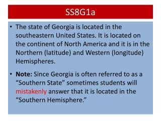 SS8G1a