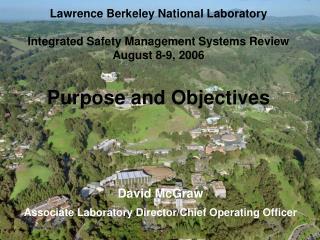David McGraw Associate Laboratory Director/Chief Operating Officer