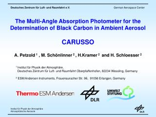 The Multi-Angle Absorption Photometer for the Determination of Black Carbon in Ambient Aerosol