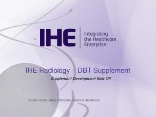 IHE Radiology – DBT Supplement