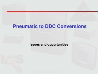 Pneumatic to DDC Conversions
