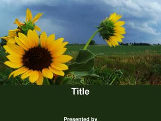 Title Presented by