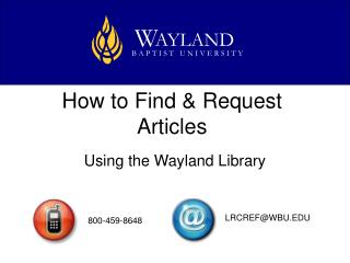 How to Find & Request Articles