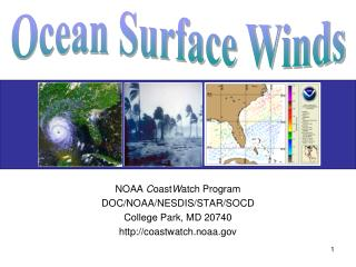 NOAA  C oast W atch Program DOC/NOAA/NESDIS/STAR/SOCD College Park, MD 20740