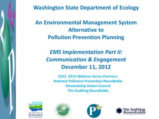 Washington State Department  of Ecology An Environmental Management System Alternative to