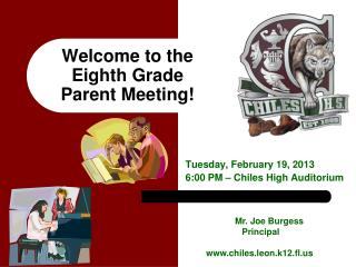 Welcome to the Eighth Grade Parent Meeting!