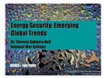 Energy Security: Emerging Global Trends Dr. Theresa Sabonis-Helf                                                   Natio