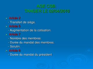 AGE CSB:  TANGER LE 02/04/2010