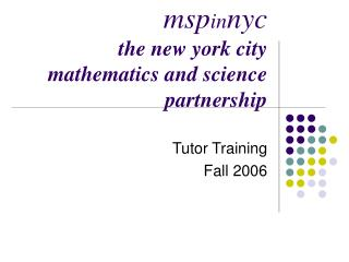msp in nyc the new york city mathematics and science partnership