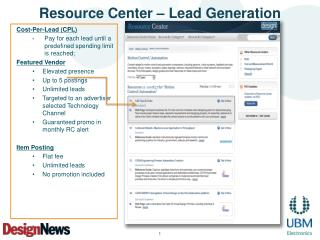 Resource Center – Lead Generation