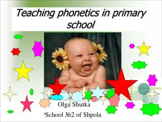 Teaching phonetics in primary school