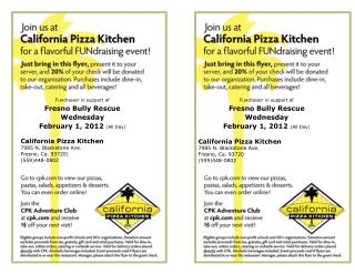 Fundraiser in support of Fresno Bully Rescue Wednesday February 1, 2012  (All Day)