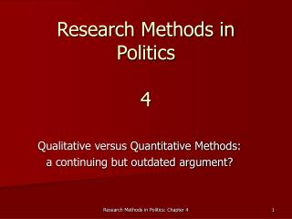 Research Methods in Politics 4