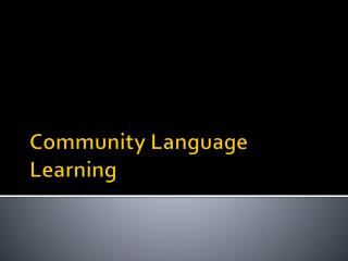 Community Language Learning